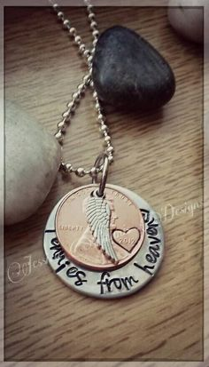 Check out this item in my Etsy shop https://www.etsy.com/listing/223331149/pennies-from-heaven-hand-stamped