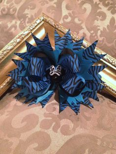 Blue and Black Zebra print Minnie Mouse Stacked by DannysBoutique, $7.00