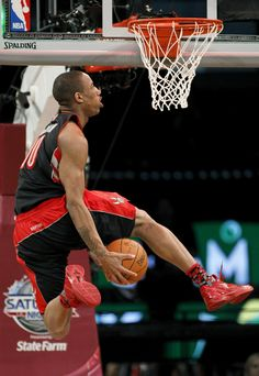 Demar DeRozan Toronto Raptors NBA Slam Dunk Contest. Is he ready to lead the team this season in points scored per game just like last season? We will find out. Get your tickets today! First home game is October 10th!