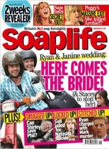 Written by soap lovers for soap lovers, Soaplife is the one-stop, fortnightly magazine that brings you more news, more gossip and more stars and pictures from your favourite shows than any other soap magazine. It's a unique mix of soap news and gossip, soaps in pictures, storyline information, interviews and updates, insight into the stars lives on and off-screen - together with complete highlights of the next two weeks, TV including day-by-day soap previews and storylines for all the soaps.