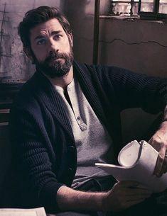 John Krasinski in all his bearded handsomeness #handsome #hot #sexy #celebrity #hunk