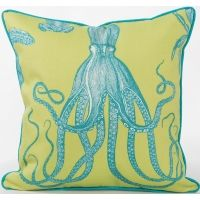 Naples Collection - Sea Life Series - Octopus Indoor Outdoor Pillow