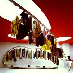 Marni flagship store by Sybarite, London » Retail Design Blog - arch product over wallway