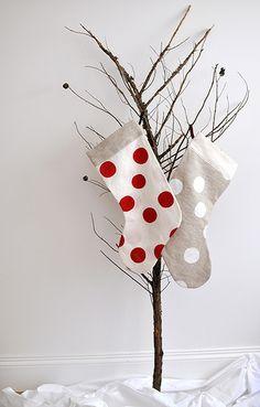silkscreen onto linen Christmas Makes, Modern Christmas, All Things Christmas, Christmas Crafts, Christmas Decorations, Christmas Ornaments, Holiday Decor, Holiday Ideas, White Christmas