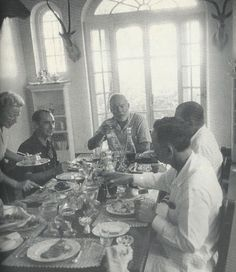 Ernest Hemingway hosting author and war correspondent Alan Morehead for lunch in Cuba, 1956. 5.17.12: Social History | New York Social Diary