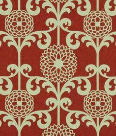 Robert Allen Wave Garden Red Hot Fabric - $28.15 | onlinefabricstore.net