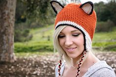 Adult Fox Beanie on Etsy, would someone like to buy me this?