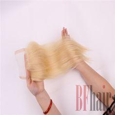 BFHair 3 Bundles Brazilian Virgin Human Hair Color 613 Blonde Silky Straight…