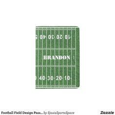 Football Field Design Passport Cover
