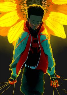 guess who watched and then fell in love with into the spiderverse Art by me. Spider Art, Spider Verse, Marvel Universe, Miles Morales Spiderman, Character Art, Character Design, Black Spiderman, Marvel Drawings, Marvel Fan Art