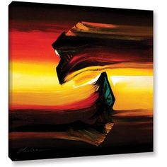 ArtWall Milen Tod Passing By Gallery-wrapped Canvas, Size: 24 x 24, Orange