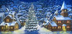 Backdrop CH026 Christmas Village 8