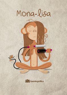 MONA-LISA. By: Henry Fuentes http://www.gorditosenlucha.com/