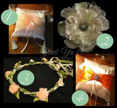 DIY Bride: Yuet Yu S. from Kuala Lampur, Malaysia: creates her own {JOSHUA} Ring bearer Pillow, {SERENA} Flower, flower girl hair piece, and much more. Kuala Lampur, Flower Girl Hairstyles, Ring Bearer, Hair Piece, Cute Couples, Brides, Gift Wrapping, Bows, This Or That Questions