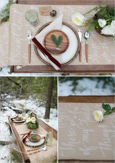 favorite things winter table setting #winterweddingideas #winterwedding #weddingchicks http://www.weddingchicks.com/2013/12/24/wonderful-winter-wedding-ideas/