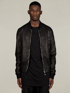 SILENT by Damir Doma Men's Jesve Leather Bomber Jacket | oki-ni