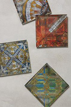 Hand-Cut Glass Coaster - anthropologie.com