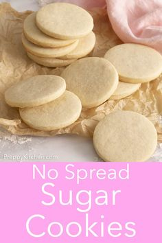 Sugar Cookie Recipe - Preppy Kitchen These no-spread sugar cookies from Preppy Kitchen are perfect for cutouts, totally delicious and best of all, the dough is easy to work with and needs minimal chilling. No Spread Sugar Cookie Recipe, Roll Out Sugar Cookies, Chewy Sugar Cookie Recipe, Lemon Sugar Cookies, Sugar Cookie Dough, Sugar Cookies To Decorate, Decorated Sugar Cookie Recipe, Easy Sugar Cookie Cutout Recipe, Royal Icing Sugar Cookies Recipe
