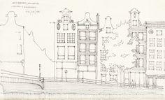 Croquis - Amsterdam - por Facundo Alvarez