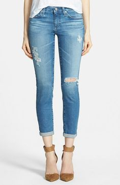 AG 'The Stilt' Roll Cuff Skinny Jeans (19 Year Breakdown) available at #Nordstrom