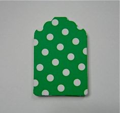 25 Green and White Polka Dot Gift Tags by NanaLetha on Etsy