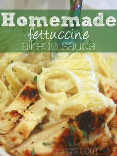 I LOVE this alfredo sauce. Easy no cream cheese recipes are awesome - if you're looking for an alfredo sauce without cream cheese, this is the fettuccine alfredo sauce recipe for you! Alfredo Sauce Recipe No Cream, Fetuccini Alfredo Recipe, Alfredo Sauce Without Cream, Low Sodium Alfredo Sauce Recipe, Yummy Chicken Recipes, Fun Easy Recipes, Sauce Recipes, Cooking Recipes, Pasta Recipes