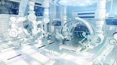 Futuristic research laboratory by Ociacia.deviantart.com on @DeviantArt