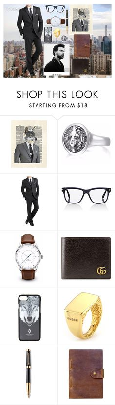 """""""The Wolf Of Wall Street"""" by elinormars ❤ liked on Polyvore featuring BLVD Supply, International, Tom Ford, Gucci, Marcelo Burlon, Parker, Rear View Prints, men's fashion and menswear"""