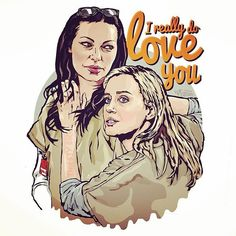 I heart you all - LOVE ❤️ #OITNB #fanartfriday #vauseman #loveeachother