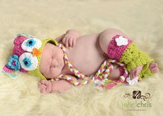 Crochet Baby Owl Hat and Leg Warmers Newborn to 4T by tutushats, $48.00