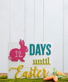 Fun way to count down to Easter for kids | Unfinished 'Days Until Easter' Calendar | happy Easter | Easter bunny #easter #affiliate