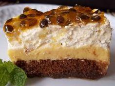 Receita de Torta pavê de maracujá - Tudo Gostoso