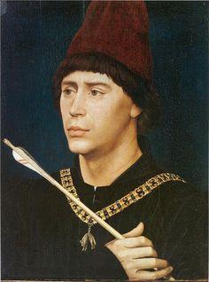 Rogier van der Weyden, Portrait of Antoine, bastard of Burgundy, 1460