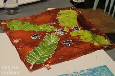 Incredible silk prints by a Tin Thimble student. Class Photos & Student Projects :: The Tin Thimble