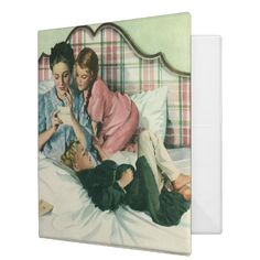 Vintage Mother Day, Children Reading Cards in Bed 3 Ring Binder | Zazzle.com Valentine Gifts, Holiday Gifts, Teacher Hair, Children Reading, Mask Shop, Binder Design, All Holidays, Ring Binder, Card Reading