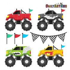 {FREE cut file} Monster Trucks - available for FREE today only, Friday, Mar 27
