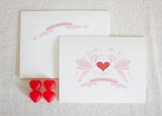 hummingbird valentines card