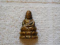 Phật Thích Ca đá mắt hổ - Mặt dây chuyền phong thuỷ - thegioidaquy.net