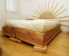 ahşap yatak başı