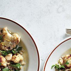 Warm Cauliflower and Herbed Barley Salad Recipe