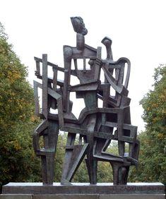 Ossip Zadkine - La demeure - 1963 Осип Цадкин. ДОМ. 1963 г. Бронза. По заказу Нидерландского банка, Амстердам.
