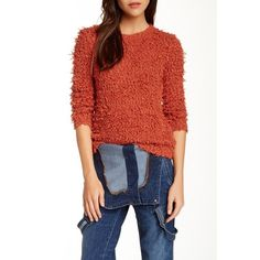 FREE PEOPLE SZ SMALL FUZZY ORANGE SWEATER NEW New Free People Sweaters