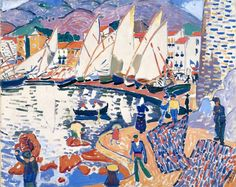 André Derain, 1905, Le séchage des voiles (The Drying Sails), oil on canvas, 82 x 101 cm, Pushkin Museum, Moscow. Exhibited at the 1905 Salon d'Automne