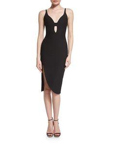 Myla Sleeveless Sheath Dress, Black  by Elizabeth and James at Neiman Marcus.