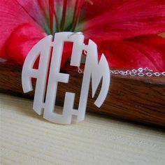 Adorable monogram necklace!