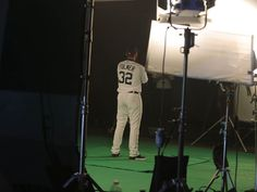 2018 Detroit Tigers spring training - Tigers pitcher Michael Fulmer poses for a Fox Sports Detroit production during spring training workouts February 17, 2018