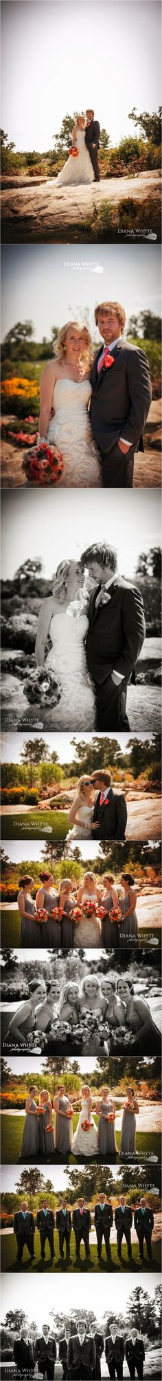 bride and groom bridal portraits Gravenhurst Wedding Photographer Diana Whyte Photography