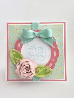 Courtney Lane Designs: Happy birthday rose card made using the Art Philosphy cartridge.