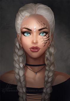 Female fantasy character inspiration - Another! Cartoon Kunst, Cartoon Art, Character Portraits, Character Art, 3d Art, Digital Art Girl, Digital Art Fantasy, Fantasy Girl, Fantasy Love