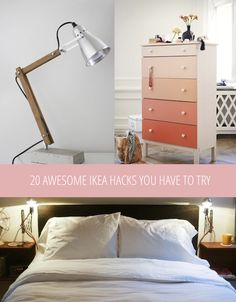 Ombre dresser and 19 Ikea hacks to try! I have a trip planned right now so perfect! :)